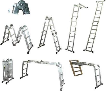 Escalera de aluminio multiusos ludepa tu ferreteria en for Escalera multiusos