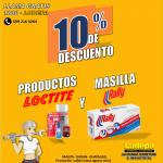 DESCUENTOS DEL 10% EN PORDUCTOS LOCTITE Y MASILLA RALLY !!!